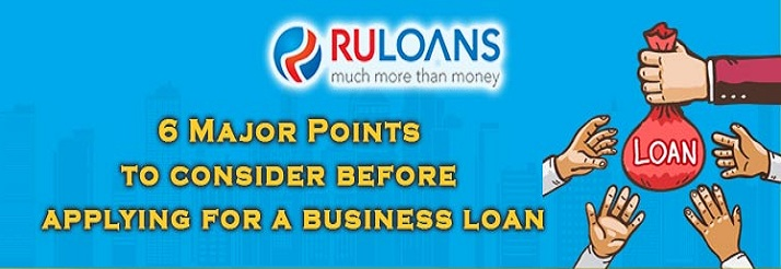 Points to consider before applying for a business loan