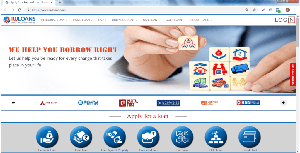 ruloans home page