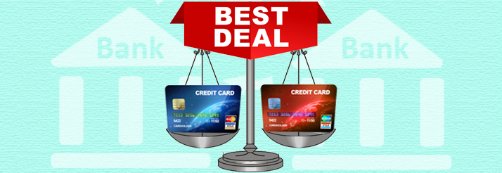 Compare credit cards and choose the best deal on Ruloans.com